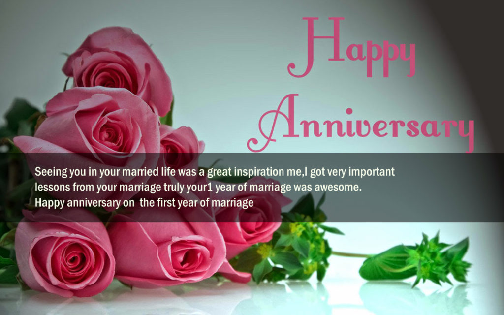 1st Wedding Anniversary Wishes