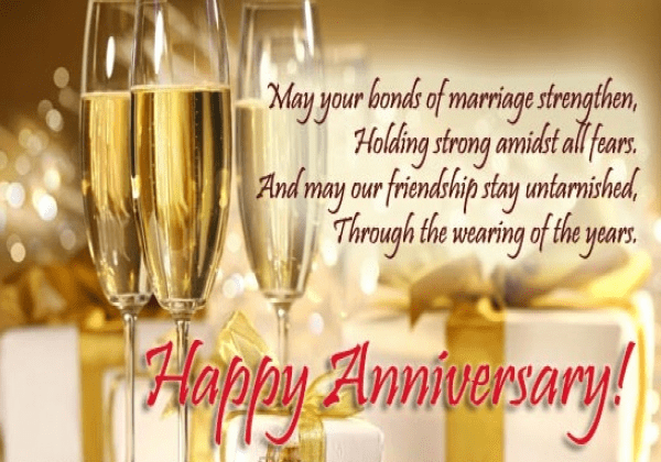 Marriage anniversary wishes for friend