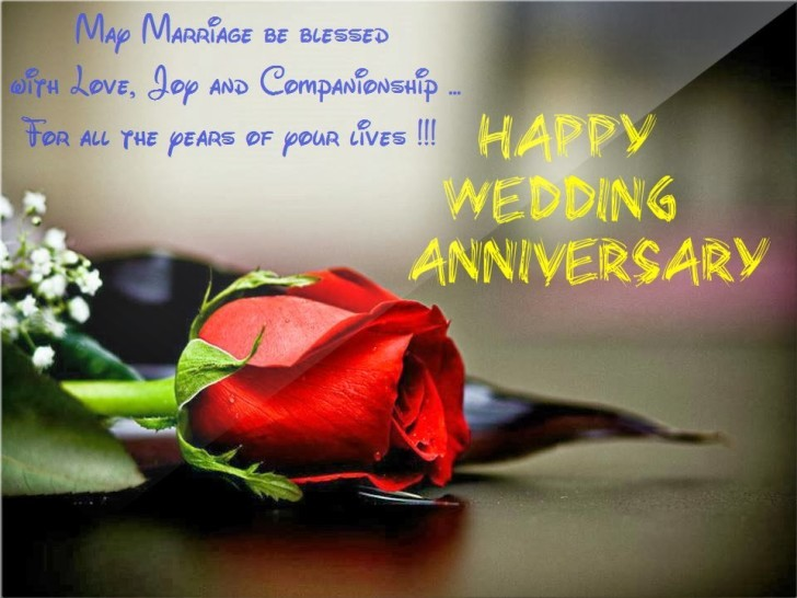 Wedding Anniversary Message For