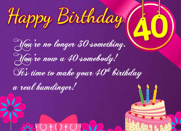 40TH BIRTHDAY GREETINGS FOR MY SISTER