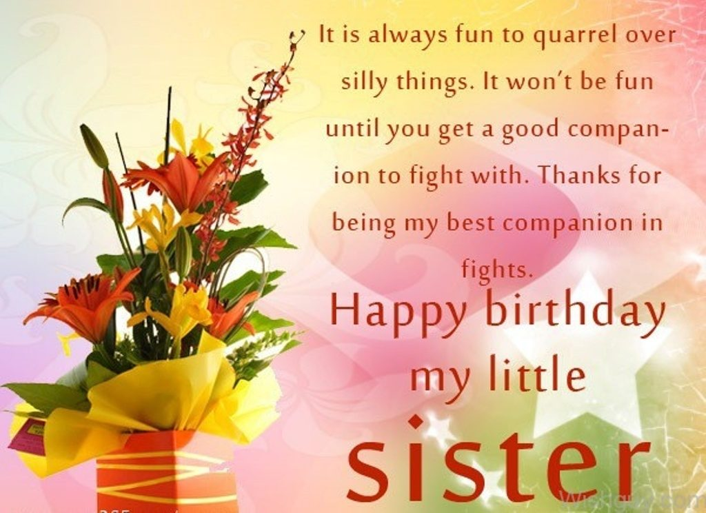 BIRTHDAY MESSAGES FOR YOUNGER SISTERS