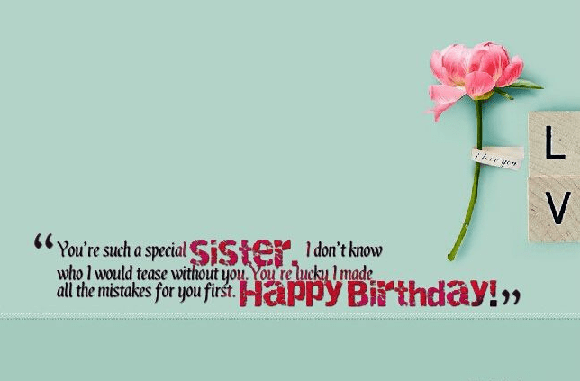 Fancy Happy Birthday Sister Quotes