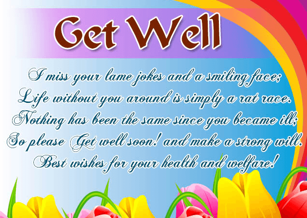 Get Well Soon Wishes and Card