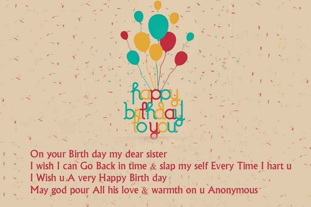 HAPPY BIRTHDAY WISHES FOR OLDER SISTER