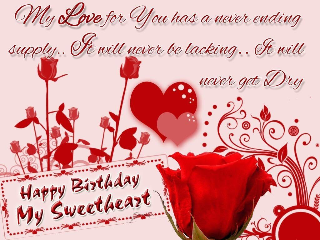 Happy birthday sweetheart wishes to inspire lover happy birthday sweetheart m4hsunfo