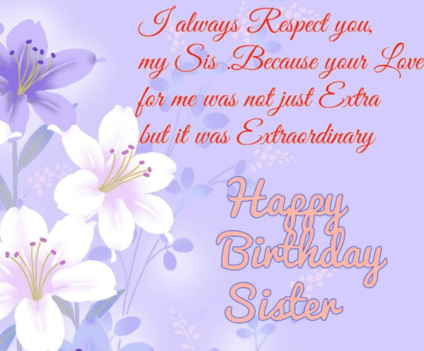 Happy birthday sister quotes and wishes happy birthday wishes for sister m4hsunfo