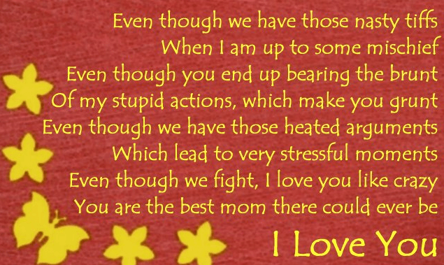 I Love You Poems for Mom