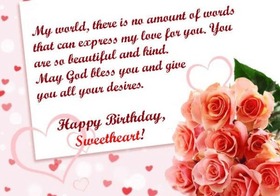 Happy birthday sweetheart wishes to inspire lover love birthday wishes m4hsunfo