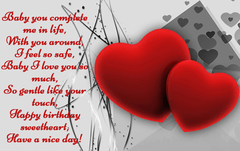 Short Happy Birthday Sweetheart Wishes