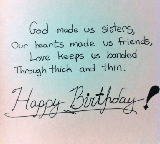 sisters birthday quotes