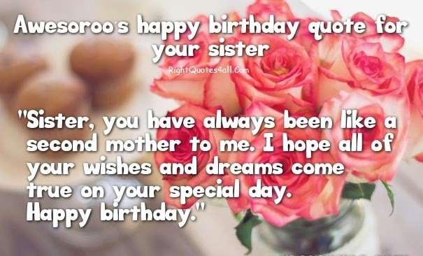 Cute Birthday Wishes For Sister