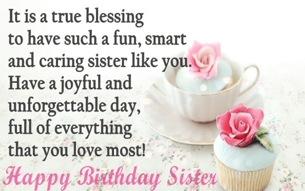 Happy birthday beautiful sister