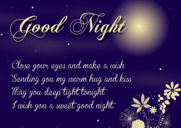 Sweet goodnight text messages for him