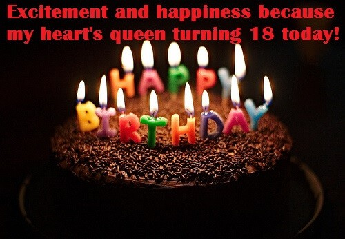 18th Cute Birthday Cake Wishes For