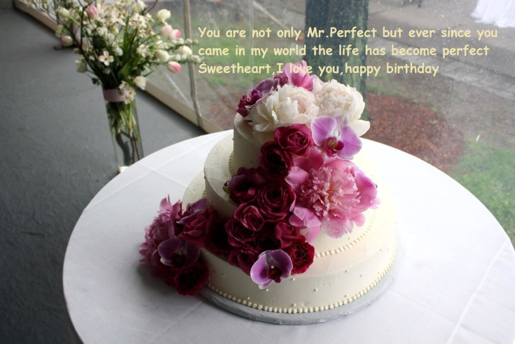 Birthday Cake Wishes Images With Flowers