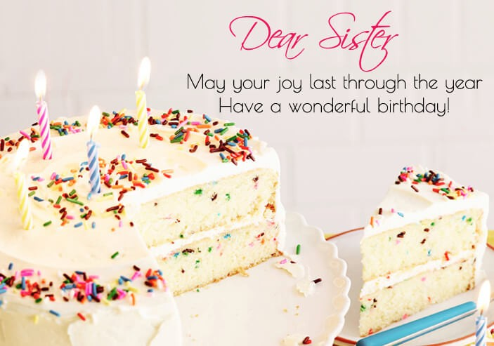 Birthday Cute Cake Quotes Picture For Sister