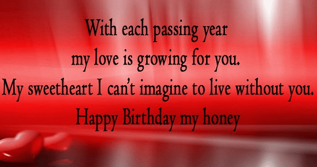 Birthday Wishes to Lover
