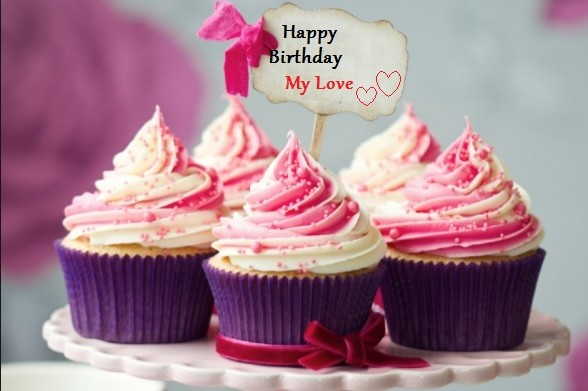 Cute Birthday Cupcake Images Wishes For My Love