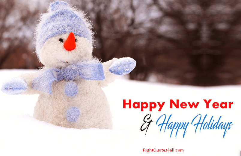 cute happy new year and holidays with christmas winter cartoon