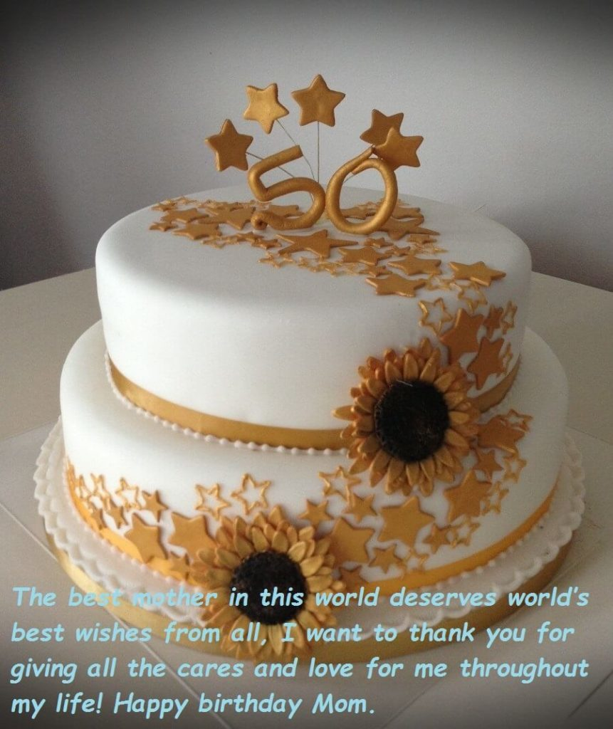 birthday cake wishes images for mom