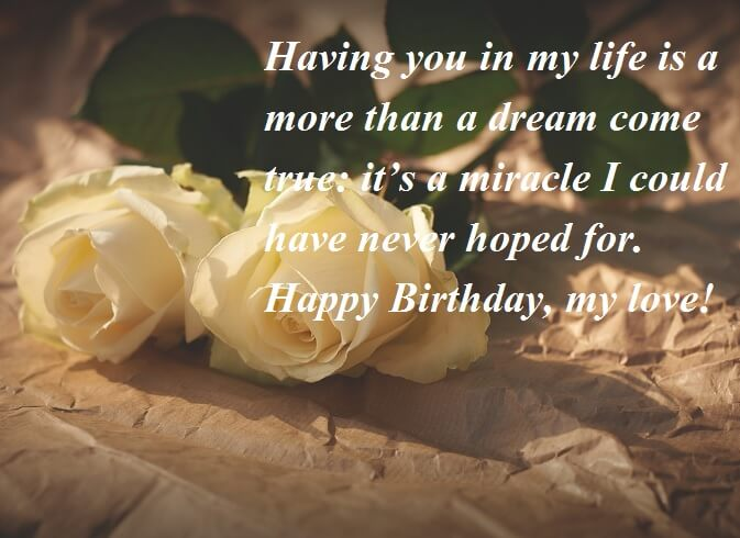 Happy Birthday Romantic Wishes For Lover
