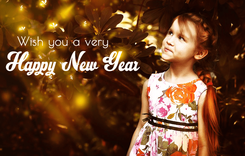 Happy New Year with Kid Photo