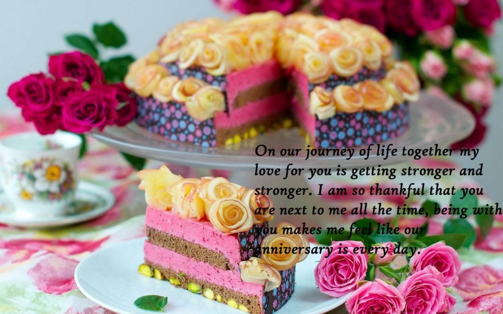 Marriage Anniversary Cake Wishes Images For Wife