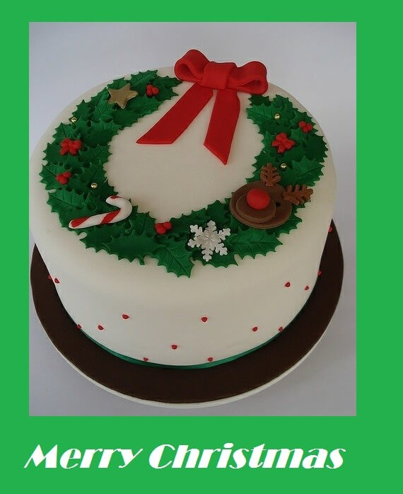 Merry Christmas Cake Images Wishes