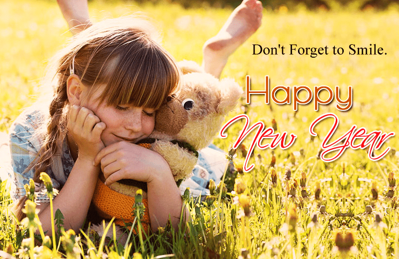 New Year Smile Quote for Kids