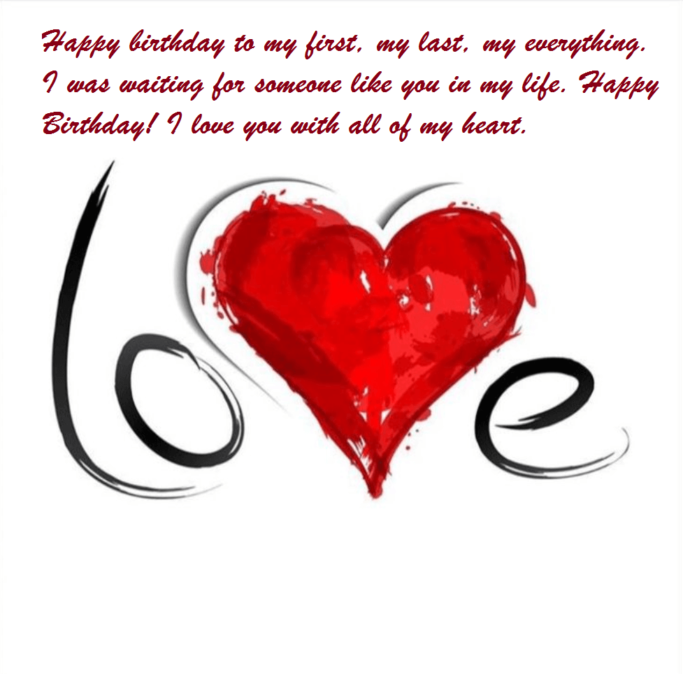 Birthday Wishes To Lover With Romantic Images