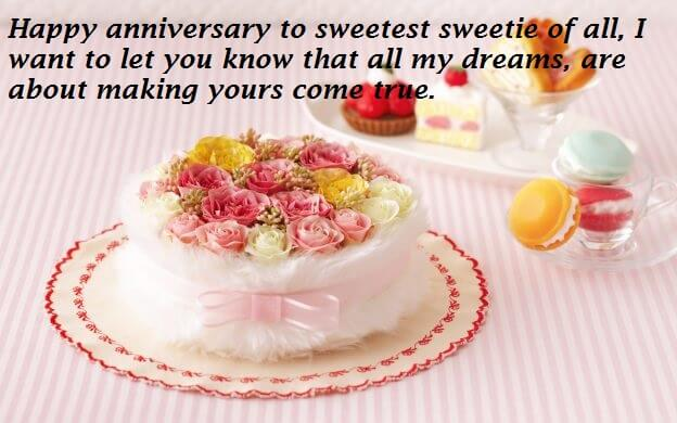 Wedding Anniversary Cake Wishes Images For Wife