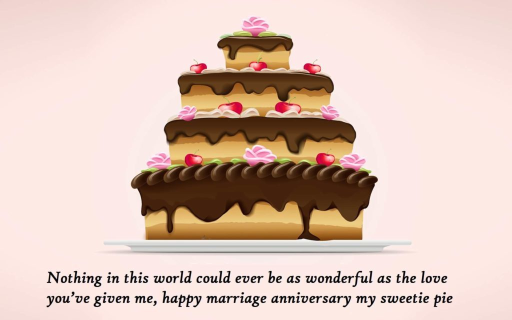 Wedding Anniversary Cake Wishes Pics For Wife