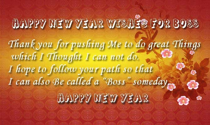 Beautiful Happy New Year Wishes To Boss