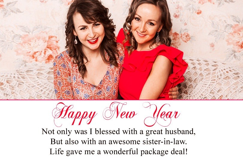 Happy New Year Wishes For Sister in Law