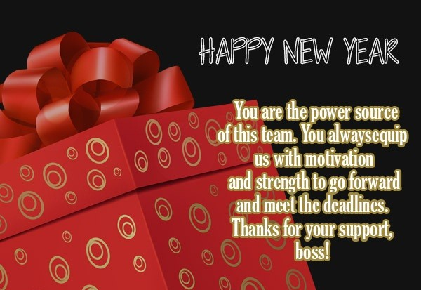 Happy new year message to boss
