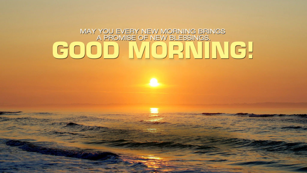 good morning sunrise wallpaper