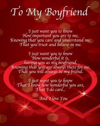 Valentines Day Poems for Boyfriend