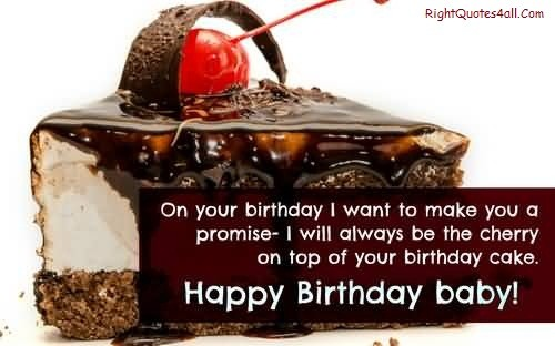 Cute Birthday Cake Wishes Images For Boyfriend