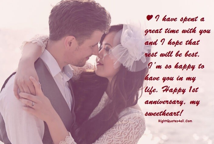 Wedding Anniversary Quotes For Sweetheart