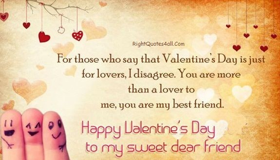 Sweet Happy Valentines Day Friend