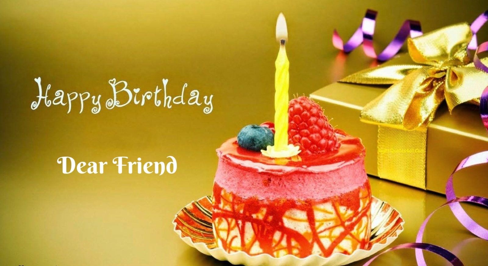 Happy Birthday Wishes For A Friend Quotes Images