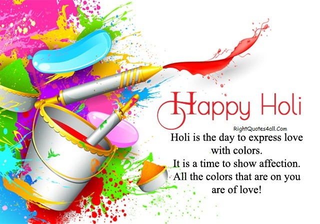 Colorful & Lovely Wishes on Holi