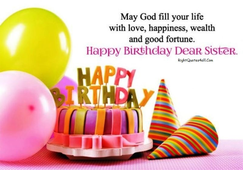 Happy Birthday Sister Wishes and Messages