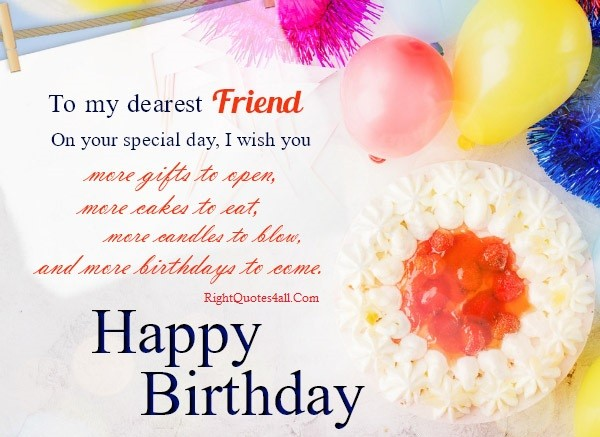 Heart Touching Birthday wishes for Friend