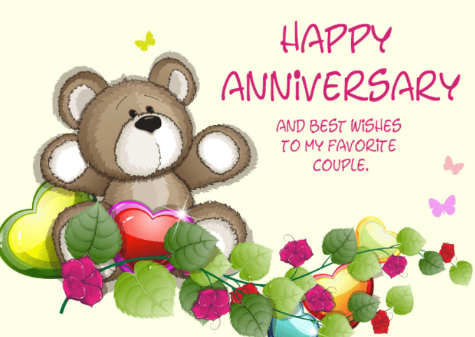 Happy Anniversary and best wishes