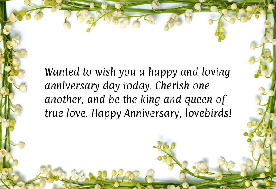 Lovebirds Happy Anniversary