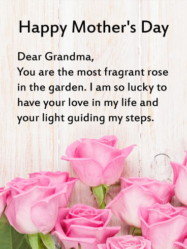 Mother's Day Wishes for Grandmother