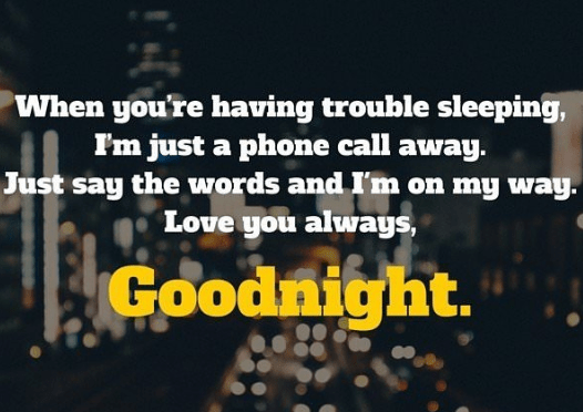 Flirty goodnight text messages for him