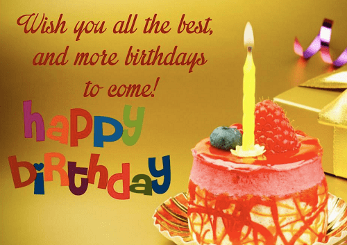Happy Birthday Wish You All the Best