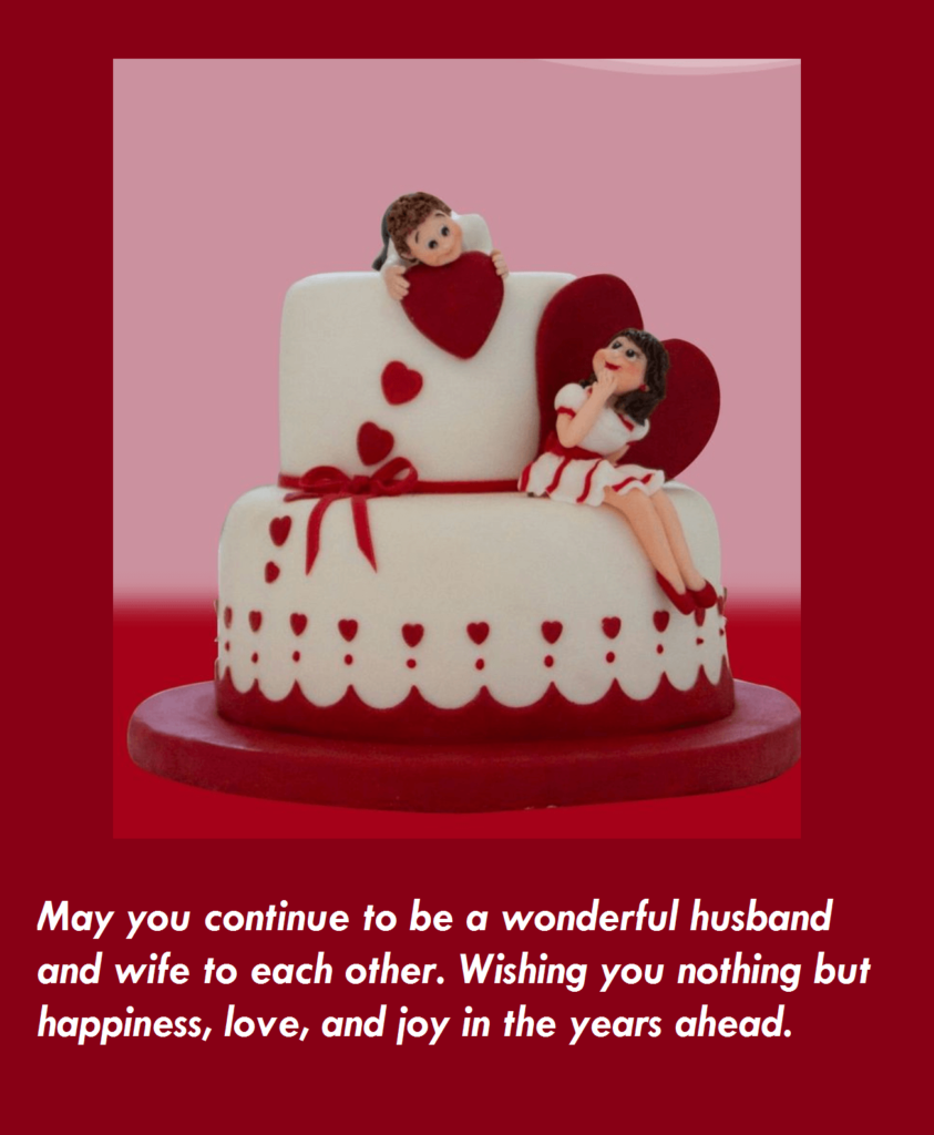 Anniversary Cute Cake Wishes Images Wishes
